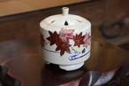 清水焼 香立て 仁清紅葉 (Kyo-yaki&Kiyomizu-yaki Incense burner MAPLE)