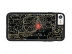 FLASH 東京回路線図 iPhone7 ケース 黒 【東京回路線図ピンズをプレゼント】