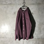 [used] wine red cotton shirt