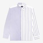 Split Stripe Shirt(White/Blue)
