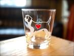 ビーグル彫刻グラス(ハート&クローバー)