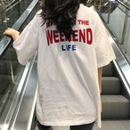 【tops】合わせやすいファッション配色Tシャツ22404217