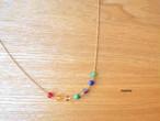 14kgf*七色天然石ネックレス*厄除け*14kgfネックレス