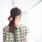<mini>wine~彩る咲き編みシュシュ