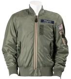 A2H1003 MA-1 AIR MESH MC JAC COMMERCIAL LOGO MODEL(セージグリーン)
