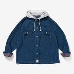DESCENDANT SPICOLI HOODED LS SHIRT / 201WVDS-SHM01