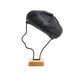 mature ha./beret top gather linen/charcoal