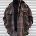カジュアルチェックジャケット メンズ 冬コーデ