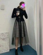 ドロシーセットワンピース ワンピース チュール シースルー  韓国ファッション