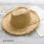 【即納】切りっぱなしラフィアリボンハット 帽子 麦わら帽子 ビーチグッズ ストローハット素材 レディース帽子 ラフィアハット V14-4