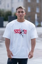 "XENO x BAKI Collaboration T-shirt ""CRUSH"" White"