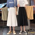 【bottoms】ファッション無地切り替えスカート21974578