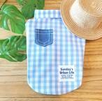 ギンガムチェックシャツ Sky blue
