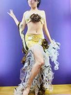 ベリーダンス衣装 コスチューム ゴールド Sサイズ