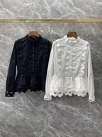 ウェーブレースブラウス ブラウス シャツ 韓国ファッション