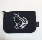 松尾ミユキ Mini flat pouch Stripe