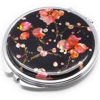 天然貝 コンパクトミラー(桜・SAKURA)<螺鈿アート> 【ラッピング対応】