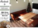 送料無料 カフェ風 無垢 アイアン ソファテーブル 鉄脚テーブル 60x120x高さ60cm 鉄脚 無垢ダイニングテーブル 男前 会議テーブル