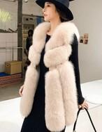 ファーウェストパンチングベスト ファーベスト ベスト 韓国ファッション