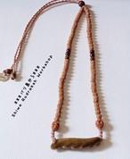 【グリーンウリ・インドネシア産】3面&5面★ゴールドウリ★マクラメ紐ネックレス