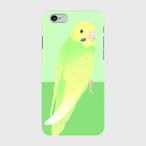 iPhoneケース セキセイインコ パステルカラーオパーリンスパングルグリーン【各機種対応】