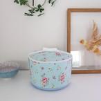 ペットの可愛い骨壷 4寸 花柄 ブルー