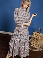 【sister jane】Tiered Midi Dress with Trim