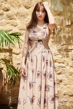 Sunflower-printed Midi Dress
