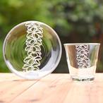 Hawaiianpaint KAN Glass & Plate set
