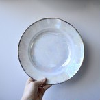 【ディナープレート】white plate ラスターコーティング