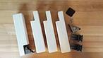 DIY 長さオーダー ローテーブル脚 折れ脚金具付き 未塗装 4本セット