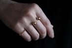 MとL2つの玉の指輪 (gold)