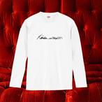 【オフィシャルTシャツ】禁断の多数決初期ロゴ・ロングTシャツ(白)