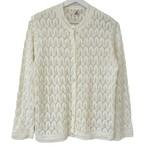 70's MONGOMERY WARD White Summer Knit Cardigan