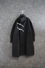 ℃℃℃ design duffle coat Black