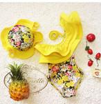花柄 プール キッズ スイムウェア 水着 夏 夏服 こども 子供用 子供 可愛い オフショルダー フリル かわいい