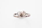 セミオーダー Ovale Ring-Silver - オーバルリング(シルバー)プラチナコート/モノグラムジュエリー/カリグラフィー ジュエリー