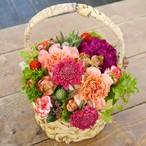 【Mother's Day Gift】Red color Basket flower L