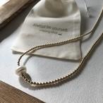 Baroque pearl x Beads*gold 34 / 2wayストレッチループジュエリー