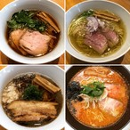 Reel Cafe おうちでラーメン 限定麺入り4食セット《正油1・塩1・豚煮干正油1・味噌1》