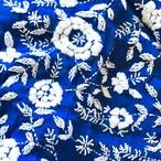 ブルーのお花のファブリック