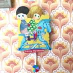 木馬に乗った男の子と女の子 CLOCK (振り子時計)