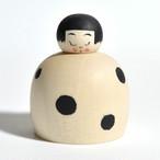 豆大福ちゃんこけし 約1.5寸 約4.3cm 鈴木明 工人(作並系)#0150