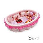 ふーじこちゃんママ手作り ぽんぽんベッド(ライトピンク・幸せロールケーキ柄)Sサイズ【PB2-184S】