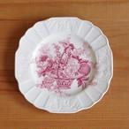 イギリス アンティーク 食器 陶器 ミヨット プリマス ピンク フルーツ柄 花柄 デザートプレート ケーキ皿 16cm #201005-6 Myott Sons.&Co. Plymouth ヴィンテージ バスケット
