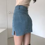 corduroy mini skirt 2color