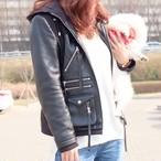 フードレザージャケット【予約販売】