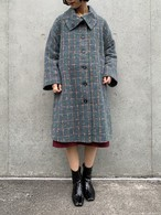 (TOYO) check pattern design coat