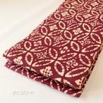 綿 織葡萄(おりえび)に七宝つなぎの半幅帯