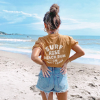 BEACH BUM Tee - Camel